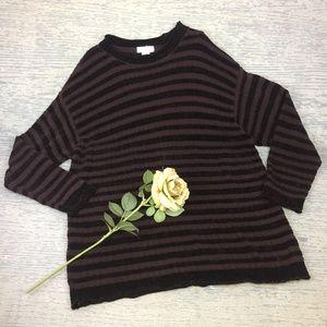 Jones New York purple striped sweater